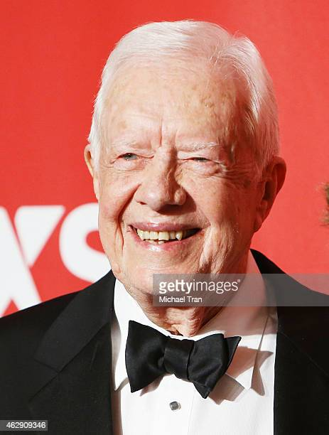 Jimmy Carter arrives at the 2015 MusiCares Person of The Year honoring Bob Dylan held at Los Angeles Convention Center on February 6 2015 in Los...