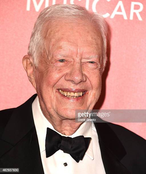 Jimmy Carter arrives at the MusiCares Person Of The Year Tribute To Bob Dylan on February 6 2015 in Los Angeles California