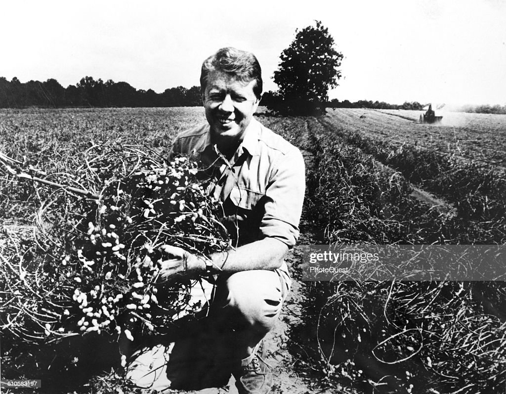 Jimmy Carter on his peanut farm Plains Georgia 1976
