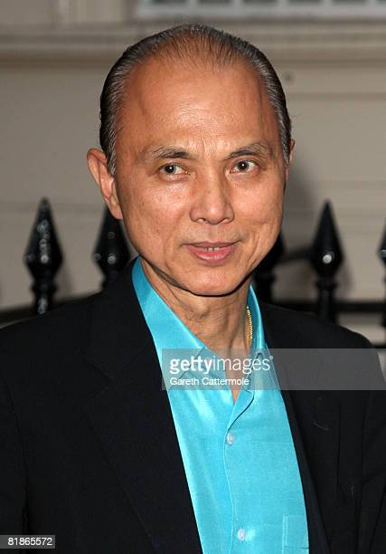 Jimmy Choo arrives at the launch of June Sarpong's new website wwwpoliticsandthecitycom on July 8 2008 in London England