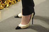Jimmy Choo shoe detail see on Regina Moody during Art Basel Miami Beach on December 3 2014 in Miami Beach Florida