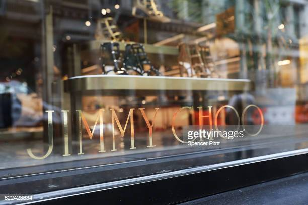 Jimmy Choo store stands in lower Manhattan on July 25 2017 in New York City Michael Kors Holdings announced on Tuesday that it had agreed to buy the...