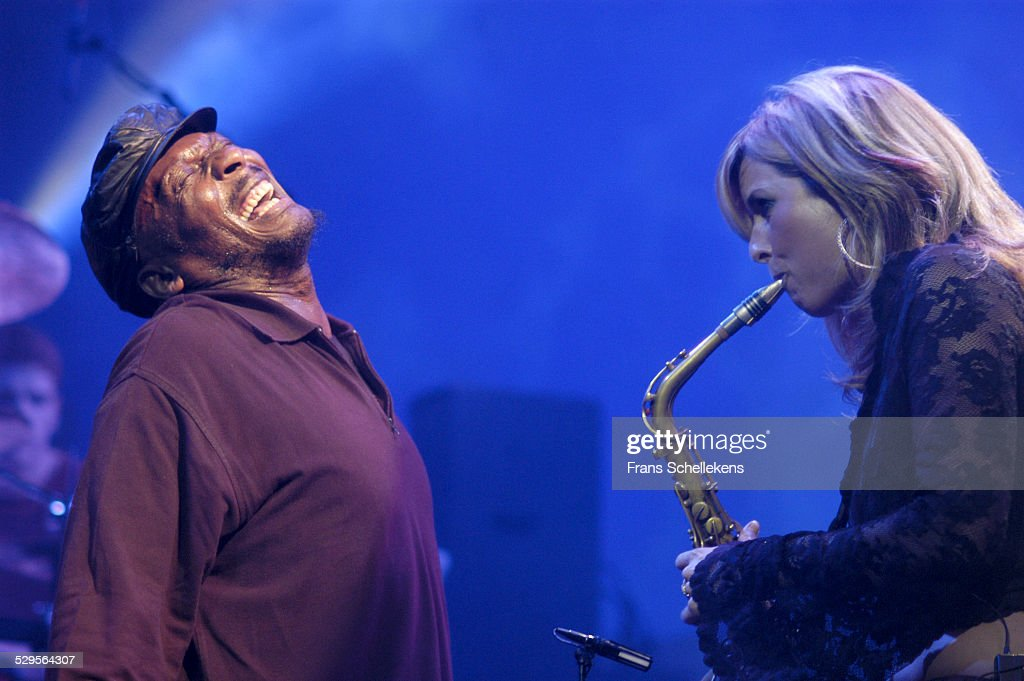 Jimmy Cliff and Candy Dulfer perform with DUP at the Paradiso on November 11th 2002 in Amsterdam Netherlands