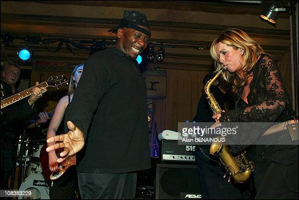 Jimmy Cliff Candy Dulfer in Paris France on November 12 2002