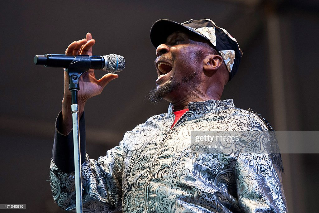 Jimmy Cliff performs at Fair Grounds Race Course on April 24, 2015 in New Orleans, Louisiana.