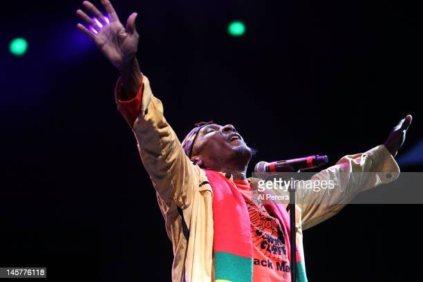 Jimmy Cliff performs at the 2012 Celebrate Brooklyn Opening Night Gala at the Prospect Park Bandshell on June 5 2012 in the Brooklyn borough of New...
