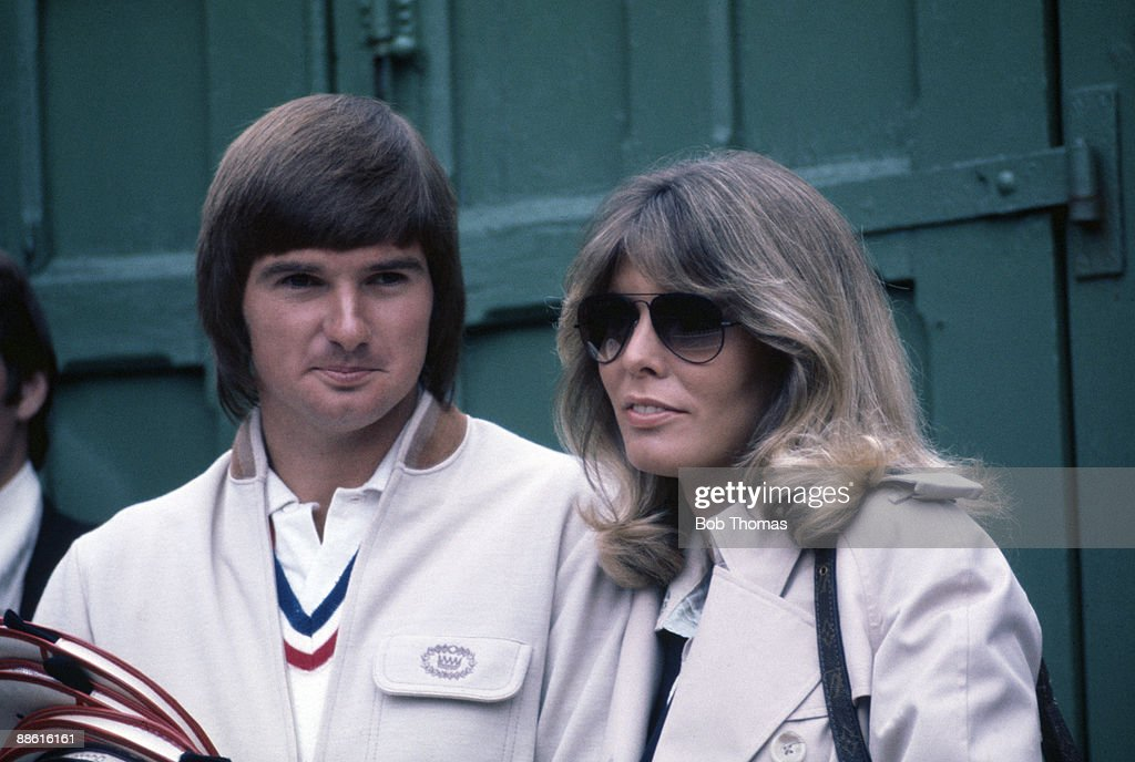 Jimmy Connors and girlfriend Marjorie Wallace of the USA during the Wimbledon Lawn Tennis Championships held at the All England Club in London, England circa 1977. (Photo by Bob Thomas/Getty Images).