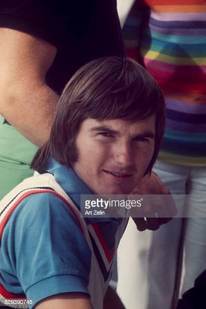 Jimmy Connors closeup at a tennis match circa 1970 New York
