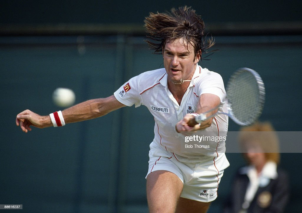Jimmy Connors of the USA during the Wimbledon Lawn Tennis Championships held at the All England Club in London, England in June 1983. (Photo by Bob Thomas/Getty Images).