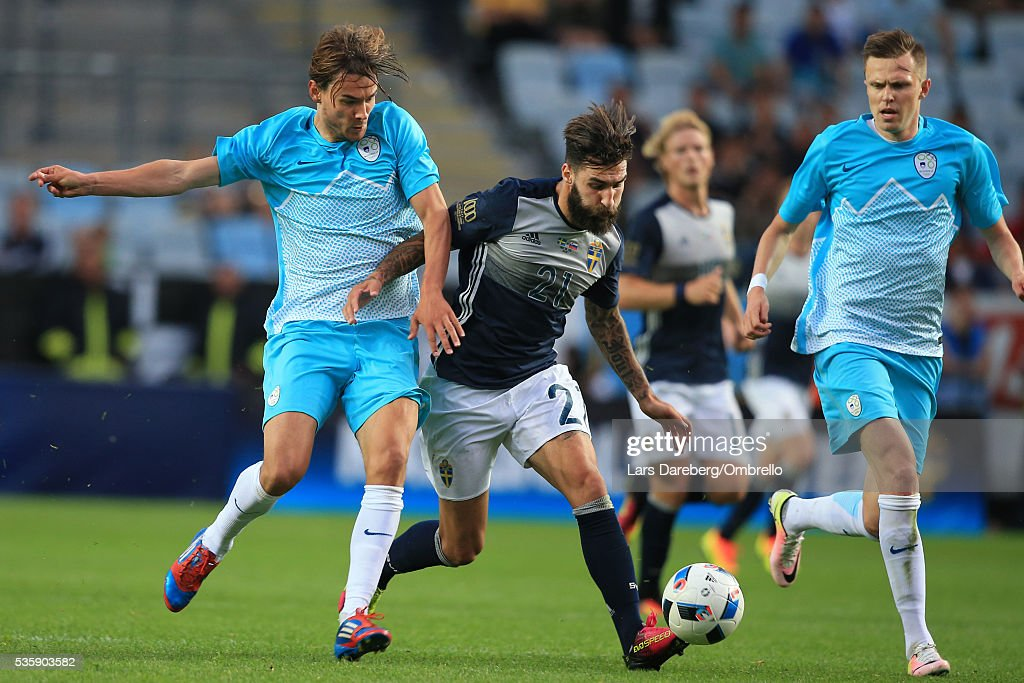 Jimmy Durmaz of Sweden during the international friendly match between Sweden and Slovenia on May 30, 2016 in Malmo, Sweden.