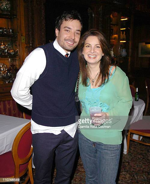 Jimmy Fallon and Gloria Fallon during Jimmy Fallon's Birthday Party September 24 2005 at The National Arts Club in New York City New York United...