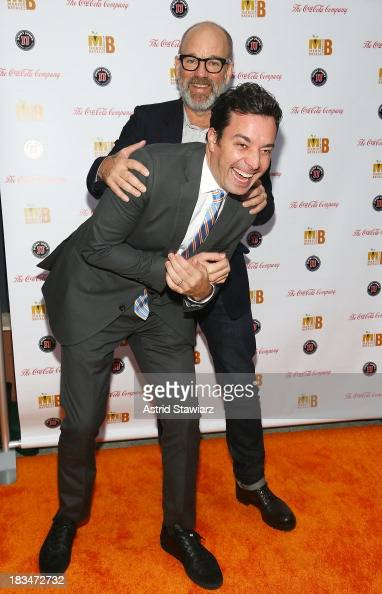 Jimmy Fallon and Michael Stipe attend 2nd Annual Mario Batali Foundation Honors Dinner at Del Posto Ristorante on October 6 2013 in New York City