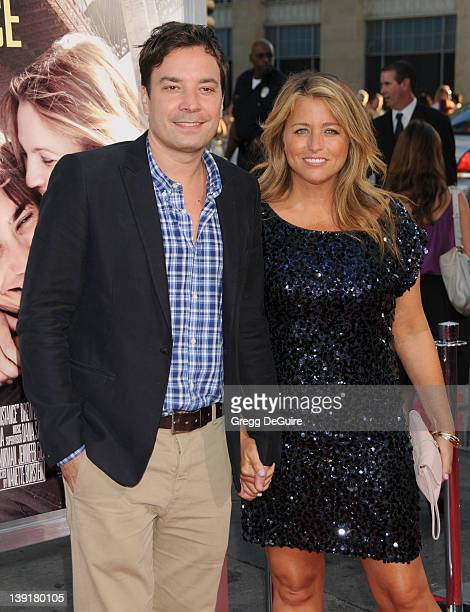 Jimmy Fallon and Nancy Juvonen arrive at the Los Angeles Premiere of 'Going The Distance' at the Grauman's Chinese Theatre on August 23 2010 in...
