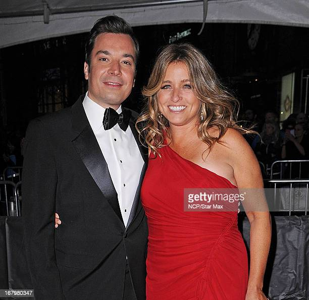 Jimmy Fallon and Nancy Juvonen as seen on April 23 2013 in New York City