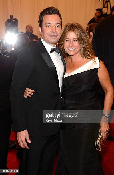 Jimmy Fallon and Nancy Juvonen attends the Costume Institute Gala for the 'PUNK Chaos to Couture' exhibition at the Metropolitan Museum of Art on May...