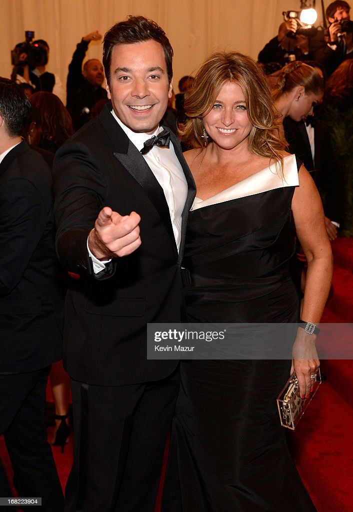 Jimmy Fallon and Nancy Juvonen attends the Costume Institute Gala for the 'PUNK: Chaos to Couture' exhibition at the Metropolitan Museum of Art on May 6, 2013 in New York City.