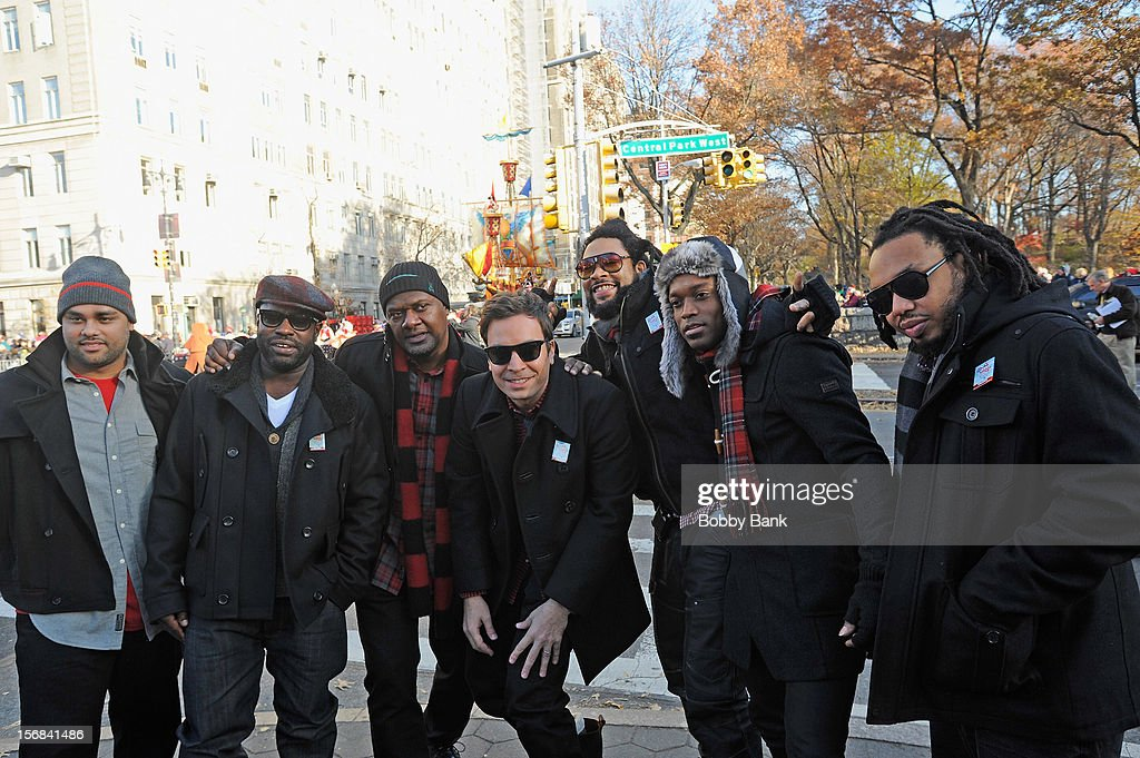 Jimmy Fallon and The Roots attends the 86th Annual Macy's Thanksgiving Day Parade on November 22, 2012 in New York City.