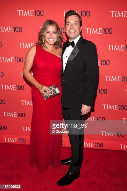 Jimmy Fallon and wife Nancy Juvonen attend the 2013 Time 100 Gala at Frederick P Rose Hall Jazz at Lincoln Center on April 23 2013 in New York City