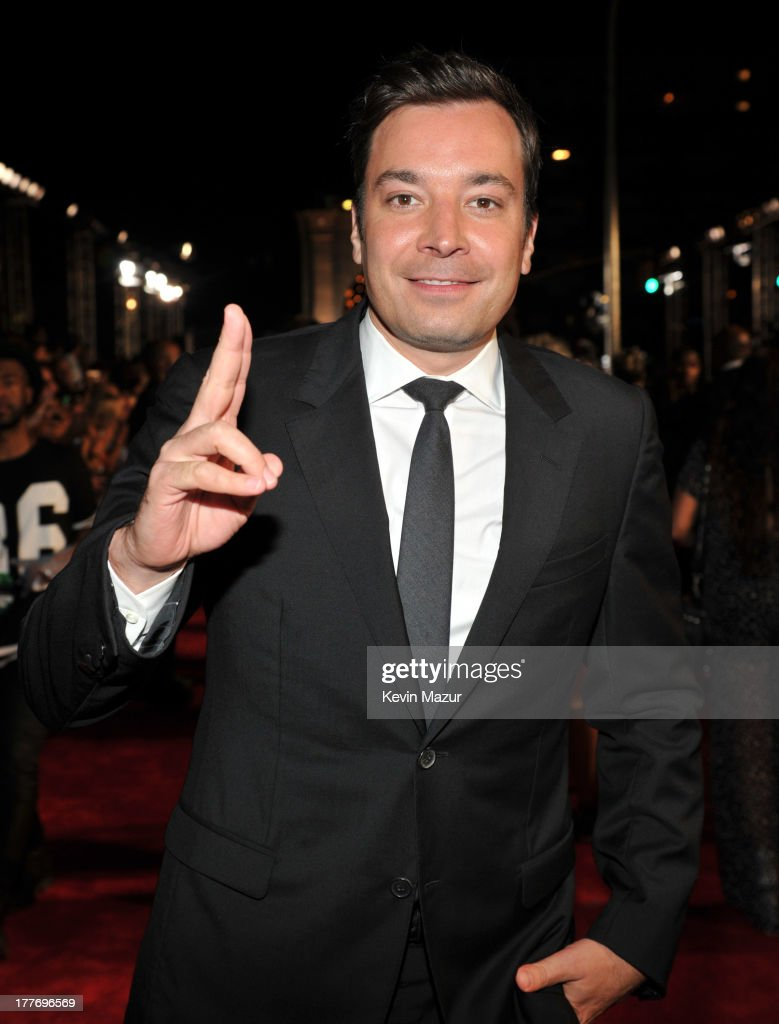Jimmy Fallon attends the 2013 MTV Video Music Awards at the Barclays Center on August 25, 2013 in the Brooklyn borough of New York City.