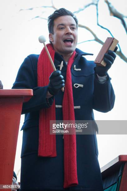 Jimmy Fallon attends the 87th annual Macy's Thanksgiving Day parade on November 28 2013 in New York City