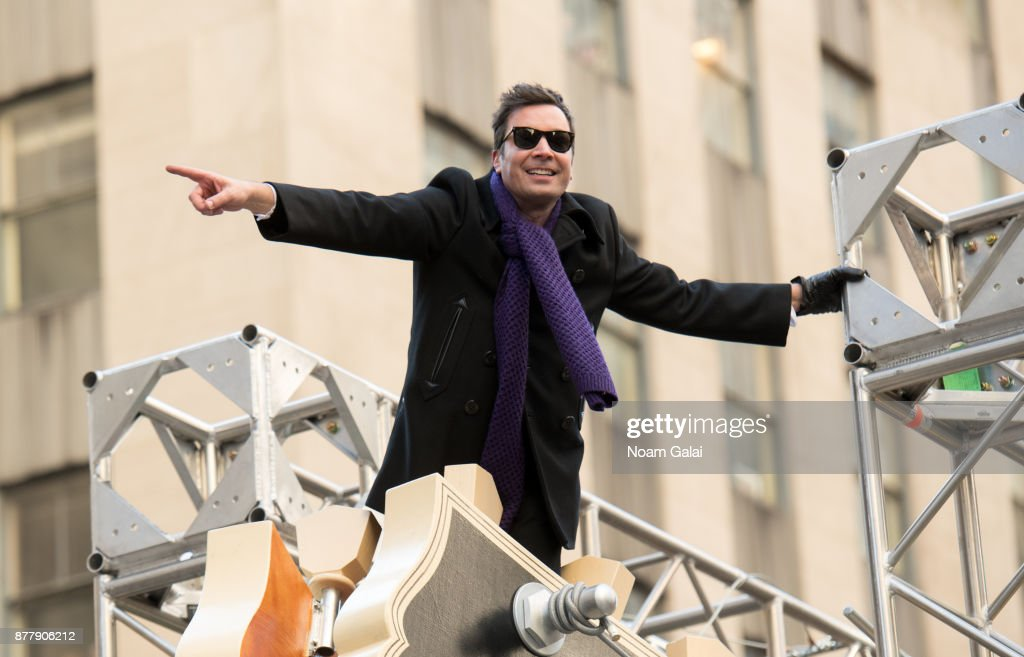 Jimmy Fallon attends the 91st Annual Macy's Thanksgiving Day Parade on November 23, 2017 in New York City.