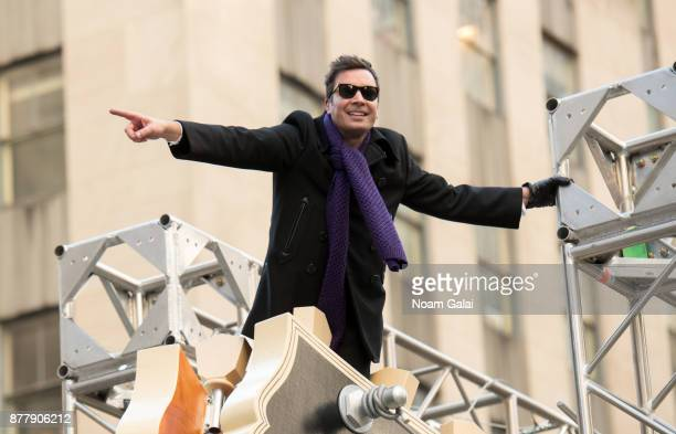 Jimmy Fallon attends the 91st Annual Macy's Thanksgiving Day Parade on November 23 2017 in New York City