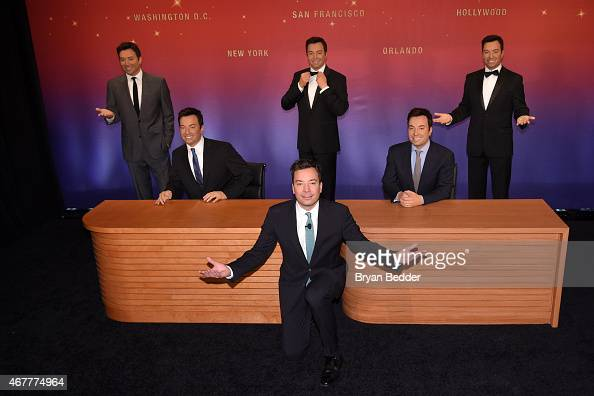 Jimmy Fallon attends the unveiling of his wax figures at Madame Tussauds on March 27 2015 in New York City