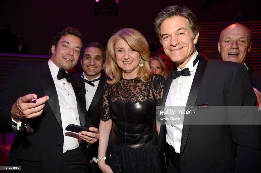 Jimmy Fallon, Bassem Yousef, Arianna Huffington and Dr Mehmet Oz attend TIME 100 Gala, TIME'S 100 Most Influential People In The World at Jazz at Lincoln Center on April 23, 2013 in New York City.