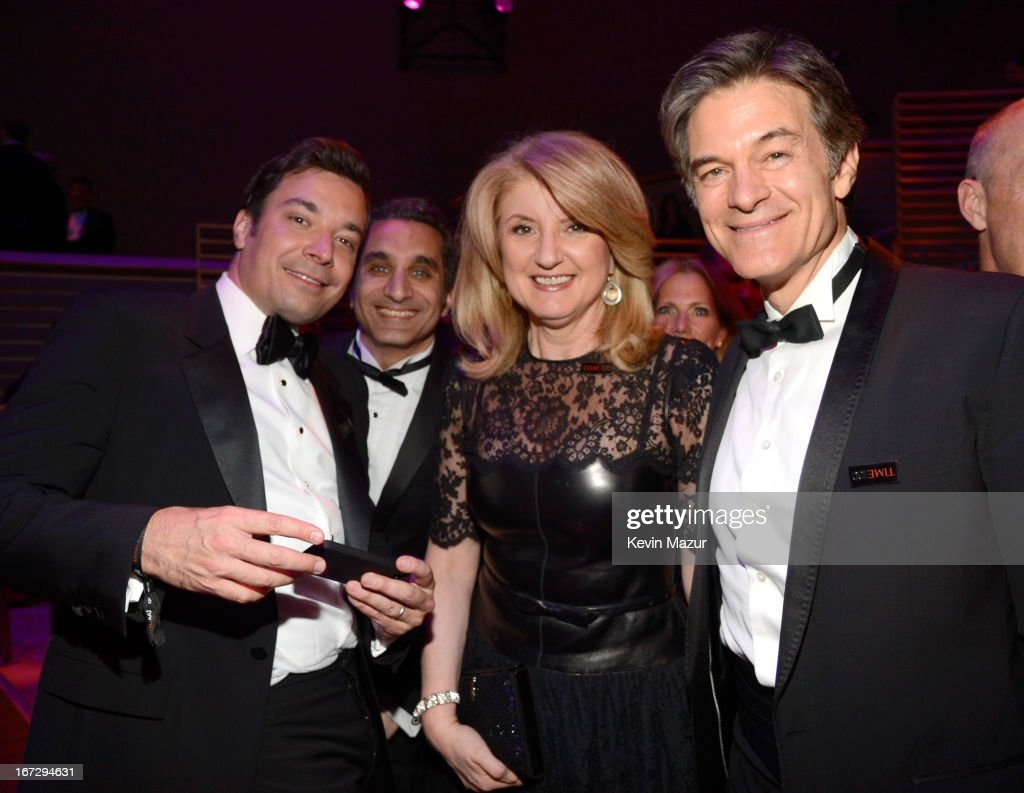 Jimmy Fallon, Bassem Yousef, <a gi-track='captionPersonalityLinkClicked' href=/galleries/search?phrase=Arianna+Huffington&family=editorial&specificpeople=204730 ng-click='$event.stopPropagation()'>Arianna Huffington</a> and Dr <a gi-track='captionPersonalityLinkClicked' href=/galleries/search?phrase=Mehmet+Oz&family=editorial&specificpeople=4175862 ng-click='$event.stopPropagation()'>Mehmet Oz</a> attend TIME 100 Gala, TIME'S 100 Most Influential People In The World at Jazz at Lincoln Center on April 23, 2013 in New York City.