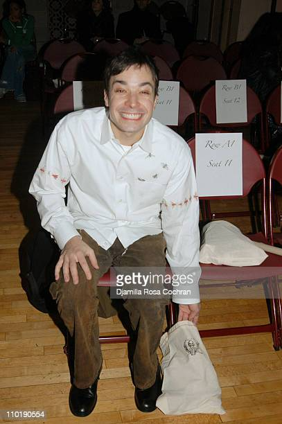 Jimmy Fallon during Olympus Fashion Week Fall 2004 Libertine Front Row and Backstage at St Barts in New York City New York United States