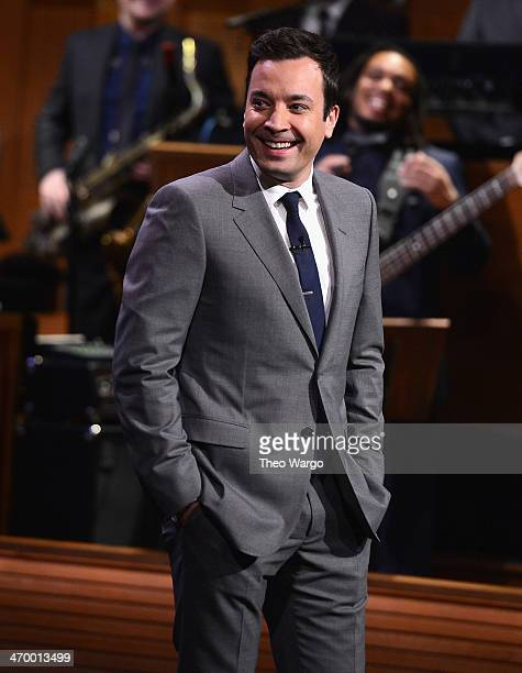 Jimmy Fallon during 'The Tonight Show Starring Jimmy Fallon' at Rockefeller Center on February 17 2014 in New York City