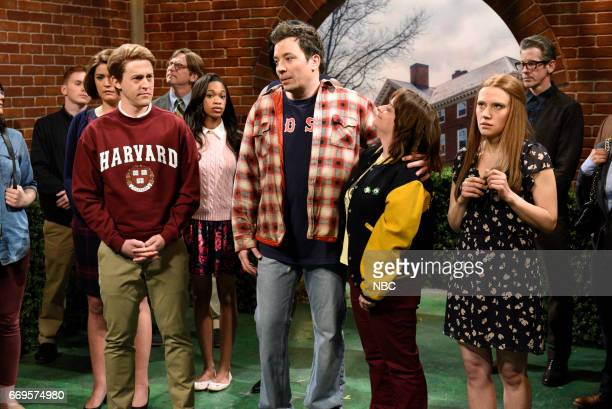 LIVE 'Jimmy Fallon' Episode 1722 Pictured Alex Moffat as a student Jimmy Fallon as Sully Rachel Dratch as Denise and Kate McKinnon as a student...