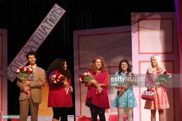 LIVE 'Jimmy Fallon' Episode 1722 Pictured Kyle Mooney Aidy Bryant Vanessa Bayer Kate McKinnon and Melissa Villaseñor during 'Before The Show' sketch...