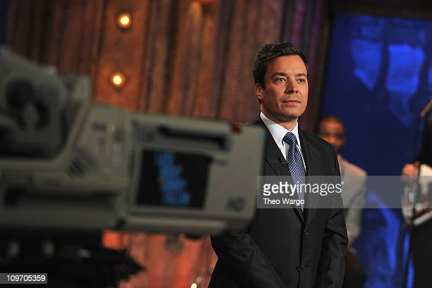 Jimmy Fallon hosts 'Late Night with Jimmy Fallon' at Rockefeller Center on March 1 2011 in New York City