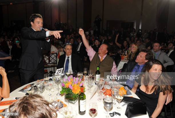 Jimmy Fallon Jon Stewart Mario Batali Jon Bon Jovi and Dorothea Bon Jovi attend Food Bank For New York City's Annual CanDo Awards Gala at Pier Sixty...