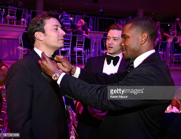Jimmy Fallon Justin Timberlake and Frank Ocean attend TIME 100 Gala TIME'S 100 Most Influential People In The World at Jazz at Lincoln Center on...