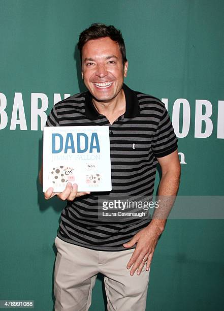 Jimmy Fallon signs copies of his new book 'Your Babies First Word Will Be DADA' at Barnes Noble Union Square on June 13 2015 in New York City