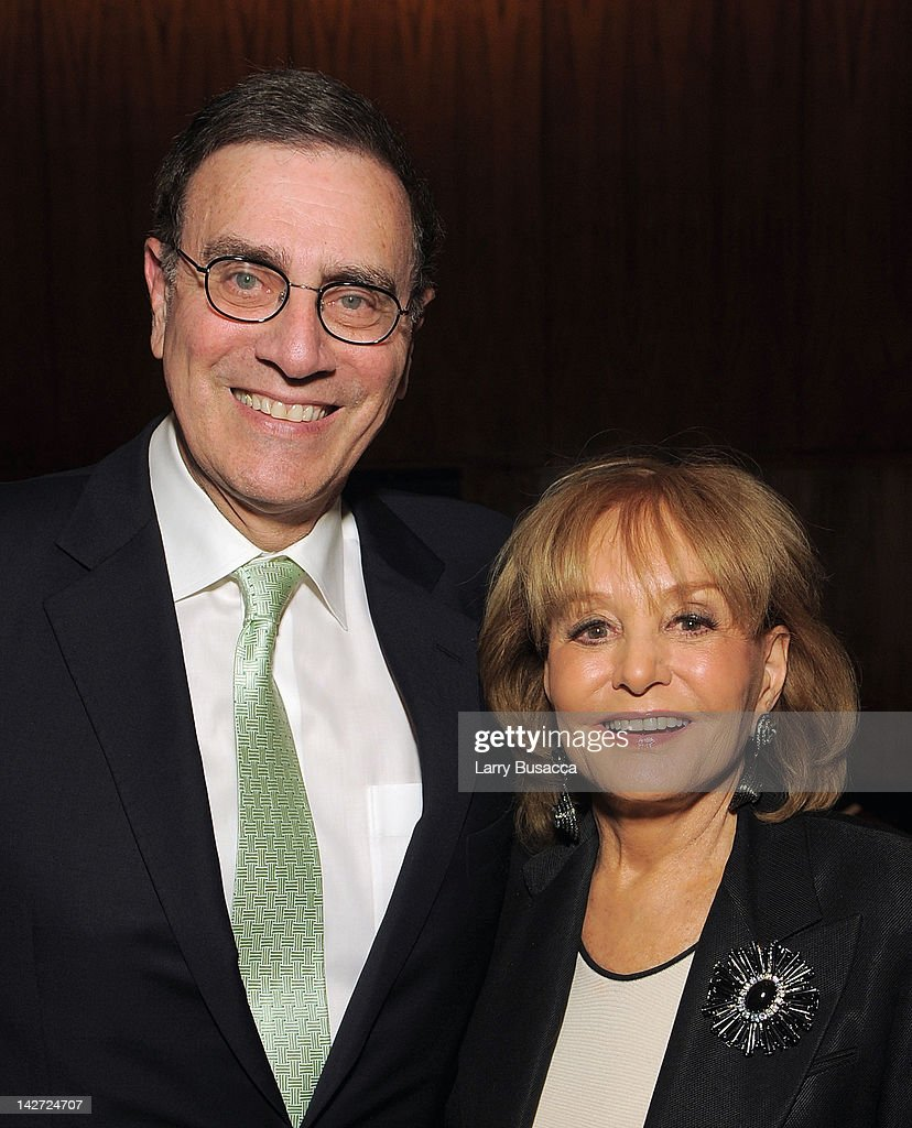 Jimmy Finkelstein and <a gi-track='captionPersonalityLinkClicked' href=/galleries/search?phrase=Barbara+Walters&family=editorial&specificpeople=201871 ng-click='$event.stopPropagation()'>Barbara Walters</a> attend the Hollywood Reporter celebration of 'The 35 Most Powerful People in Media' at the Four Season Grill Room on April 11, 2012 in New York City.