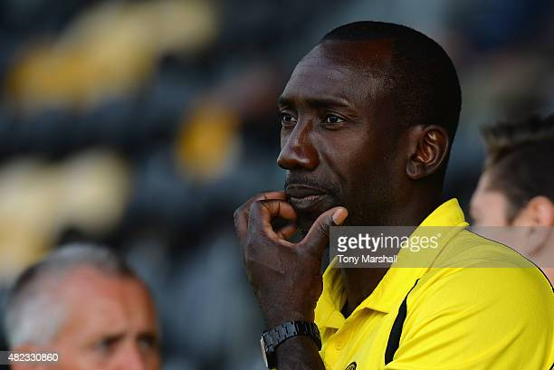 Jimmy Floyd Hasselbaink Manager of Burton Albion during the Pre Season Friendly match between Burton Albion and Leicester City at Pirelli Stadium on...