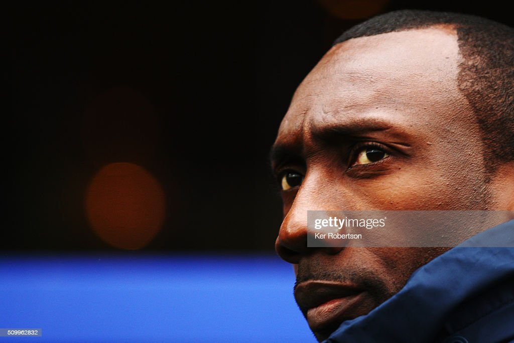 <a gi-track='captionPersonalityLinkClicked' href=/galleries/search?phrase=Jimmy+Floyd+Hasselbaink&family=editorial&specificpeople=209151 ng-click='$event.stopPropagation()'>Jimmy Floyd Hasselbaink</a> the Queens Park Rangers manager looks on before the Sky Bet Championship match between Queens Park Rangers and Fulham at Loftus Road on February 13, 2016 in London, United Kingdom.
