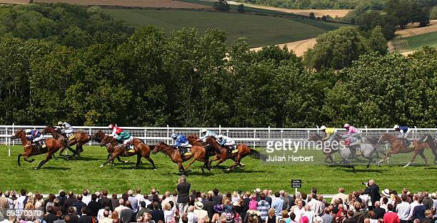 Jimmy Fortune and Drumfire lead the field home to land The Paul Goes The Exra Mile Stakes Race run at Goodwood on July 28 2009 in Chichester England