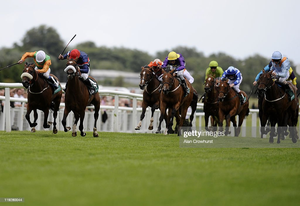 <a gi-track='captionPersonalityLinkClicked' href=/galleries/search?phrase=Jimmy+Fortune&family=editorial&specificpeople=167162 ng-click='$event.stopPropagation()'>Jimmy Fortune</a> riding Charles The Great (2nd L) win The Weatherbys Super Sprint at Newbury racecourse on July 16, 2011 in Newbury, England