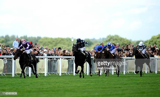 Jimmy Fortune riding Pisco Sour win the Tercentenery Stakes during Ladies Day on Ladies Day at Royal Ascot at Ascot racecourse on June 16 2011 in...