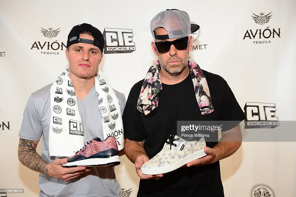 Jimmy Gorecki and Gregory Lucci attend the Young Jeezy and Gourmet Footwear branding partnership launch at Wish Shoe Store on June 13, 2013 in Atlanta, Georgia.