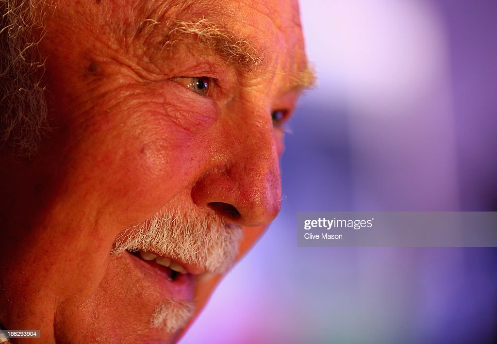 <a gi-track='captionPersonalityLinkClicked' href=/galleries/search?phrase=Jimmy+Greaves&family=editorial&specificpeople=209221 ng-click='$event.stopPropagation()'>Jimmy Greaves</a> talks to the media during the Football Association's Royal Mail Stamp Launch at Wembley Stadium on May 8, 2013 in London, England.