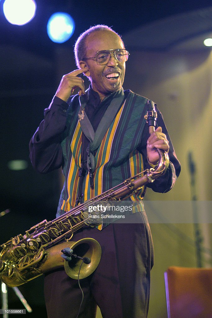 Jimmy Heath performs live on stage at the North Sea Jazz Festival in The Hague, Holland on July 13 2002