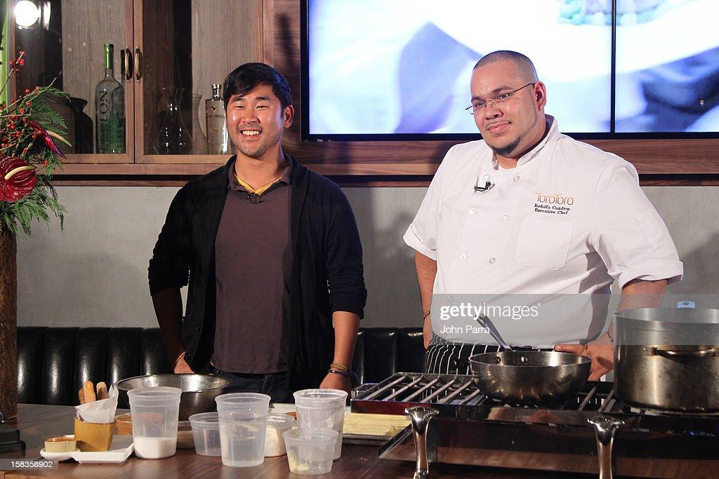 Jimmy IM and Chef Rodolfo Cuadros host the InterContinental Miami Kitchen Passport Tasting Event at InterContinental Miami on December 13, 2012 in Miami, Florida.