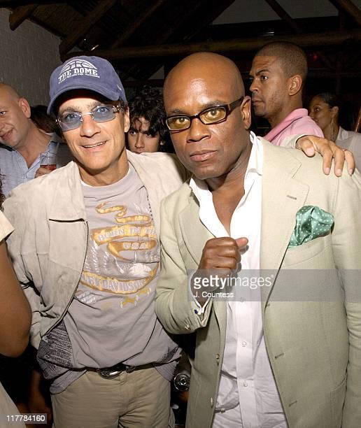 Jimmy Iovine and Antonio 'LA' Reid during LA Reid Birthday Celebration Inside at Cipriani's in New York City New York United States