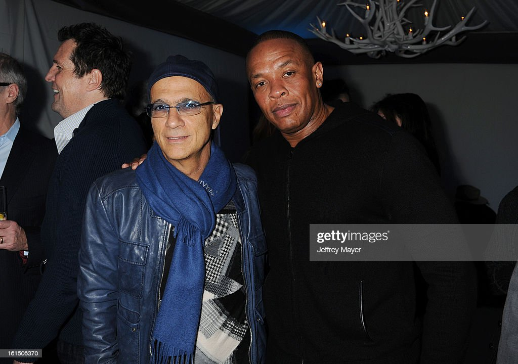 <a gi-track='captionPersonalityLinkClicked' href=/galleries/search?phrase=Jimmy+Iovine&family=editorial&specificpeople=850753 ng-click='$event.stopPropagation()'>Jimmy Iovine</a> and <a gi-track='captionPersonalityLinkClicked' href=/galleries/search?phrase=Dr.+Dre&family=editorial&specificpeople=211370 ng-click='$event.stopPropagation()'>Dr. Dre</a> attend the Universal Music Group Chairman & CEO Lucian Grainge's annual Grammy Awards viewing party on February 10, 2013 in Brentwood, California.