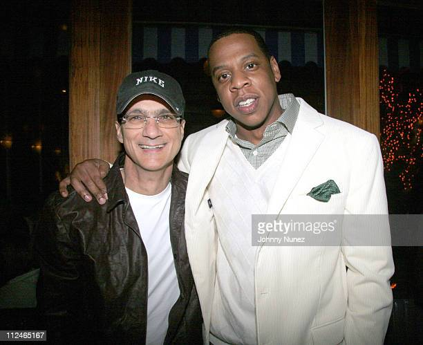 Jimmy Iovine and Jay Z during Rocawear and Elle Girl Magazine's Ladies Fall Fashion Party at Maritime Hotel in New York City New York United States